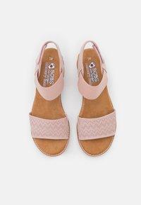 Skechers - DESERT KISS - Wedge sandals - blush - 5