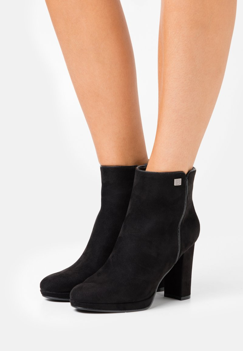 Laura Biagiotti - High heeled ankle boots - black