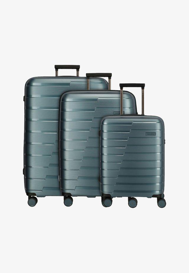 SET - Wheeled suitcase - teal