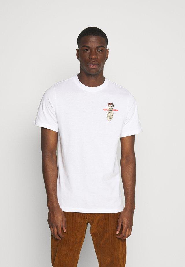 TEE FOOD CART - Camiseta estampada - white