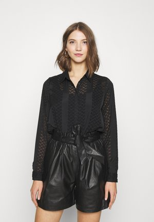 VMJASELLE - Button-down blouse - black