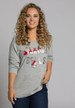 Sweatshirt - gris clair chiné