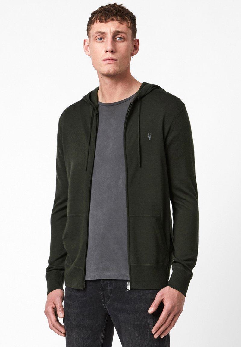 AllSaints - MODE - Zip-up hoodie - dark green