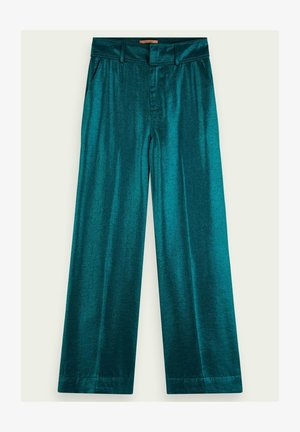 HIGH WAIST WIDE LEG METALLIC - Broek - cosmic pine