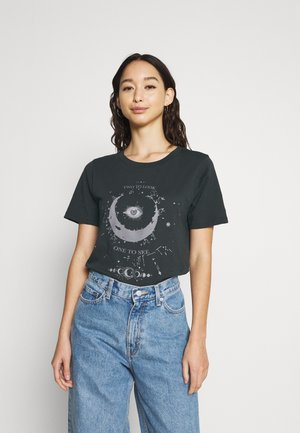 TEE - Print T-shirt - offblack/look