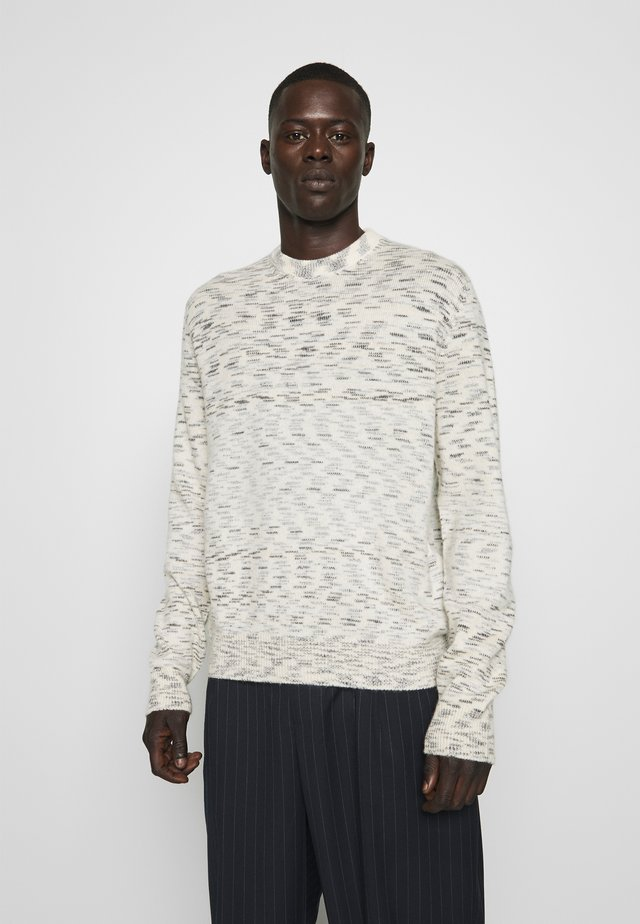 LONG SLEEVE CASH CREW NECK - Strickpullover - off-white