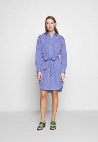 Polo Ralph Lauren - Vestido camisero - blue/white - 1