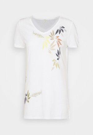 LEAF TEE - Print T-shirt - off white