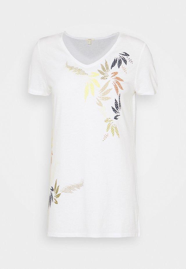 LEAF TEE - Camiseta estampada - off white