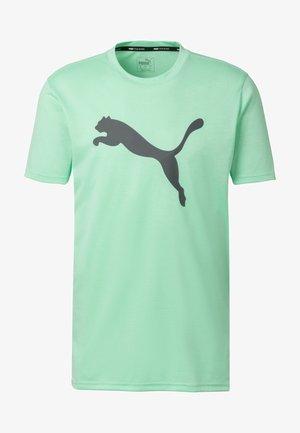 HEATHER CAT  - T-shirt print - green glimmer heather