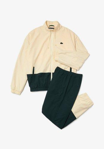 Tracksuit - beige  vert fonce