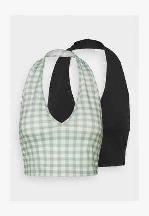 Débardeur - black/mint gingham