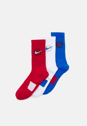 EVERYDAY CREW 3 PACK - Sports socks - gym red/white/signal blue