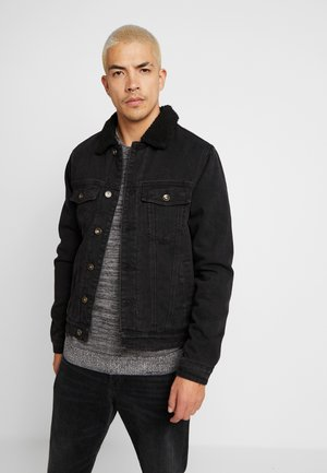 UNISEX BORG DENIM JACKET - Veste en jean - black acid