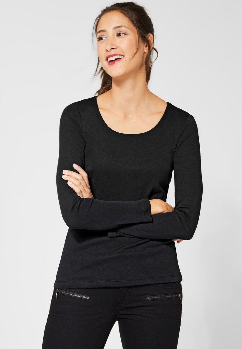 Street One - Long sleeved top - black