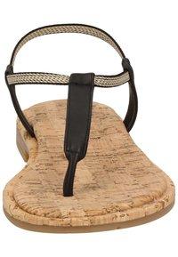 Rapisardi - ZEHENSTEG - T-bar sandals - nero s056 - 3