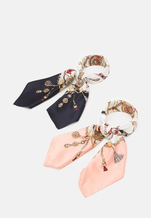 2 PACK - Scarf - dark blue/pink