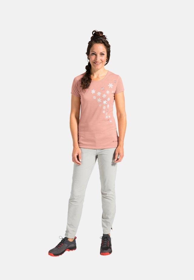 Print T-shirt - soft rose