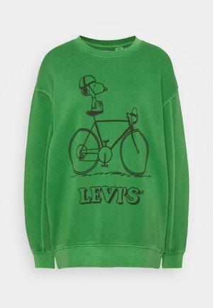 LEVI'S X PEANUTS UNBASIC CREW SWEATSHIRT - Collegepaita - green