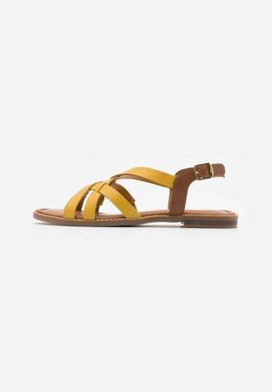 Sandály - yellow/cognac