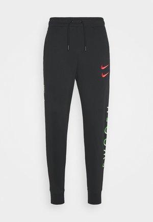 PANT - Teplákové kalhoty - black/green