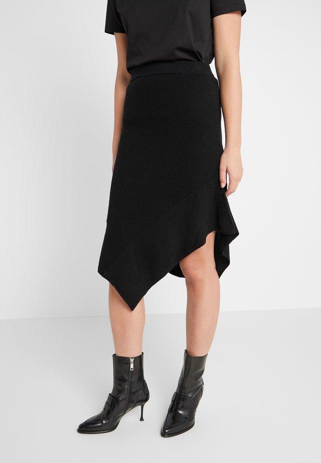 IRENE LAYER SKIRT - A-line skirt - black
