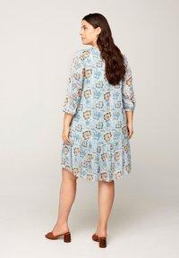 Zizzi - FLORAL PRINT  - Day dress - light blue - 2