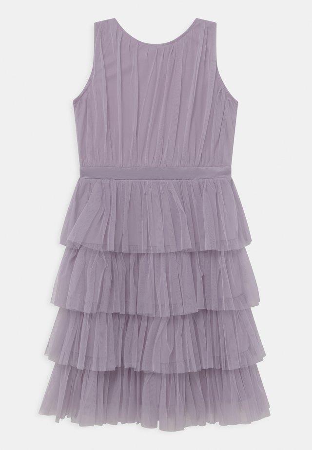 TIERED DRESS - Cocktailjurk - dusty lilac