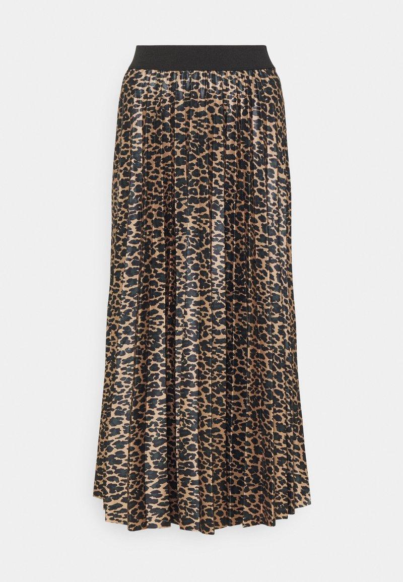 VILA TALL - VINITBAN SKIRT - Pleated skirt - camel