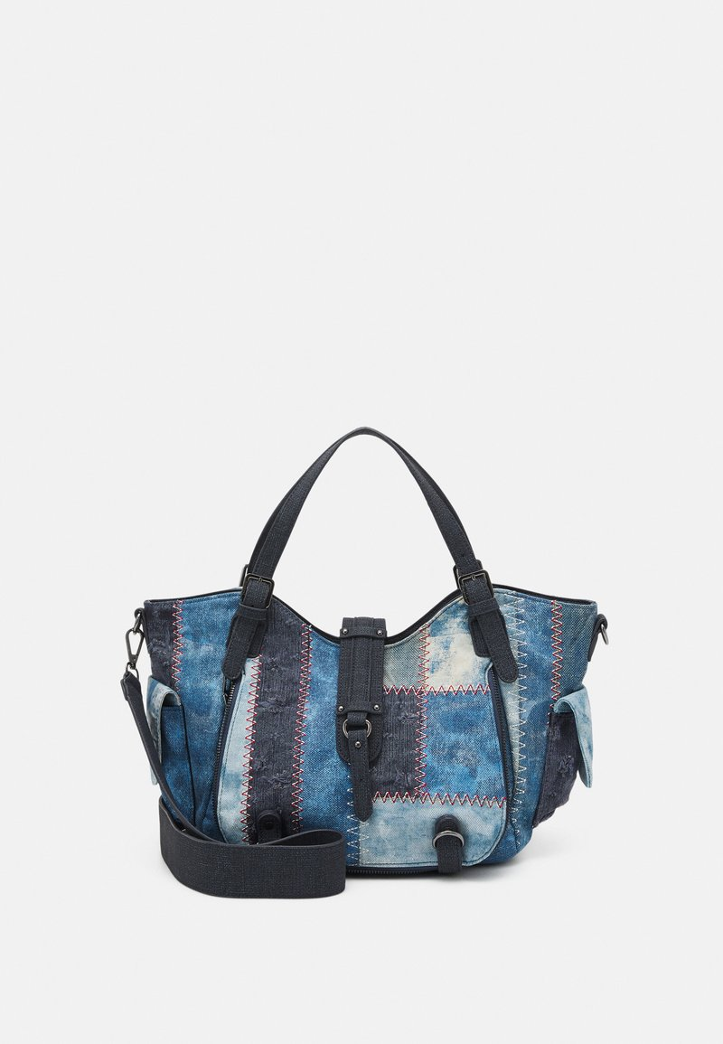 Desigual - BOLS PATCH ROTTERDAM - Handbag - denim dark blue