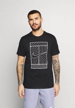 TEE COURT  - Printtipaita - black/white