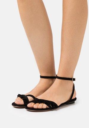FLAT - Sandals - black