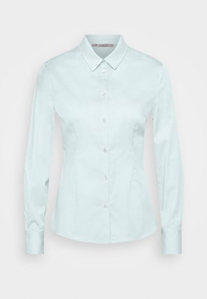 Slim fit business blouse - Button-down blouse - blue
