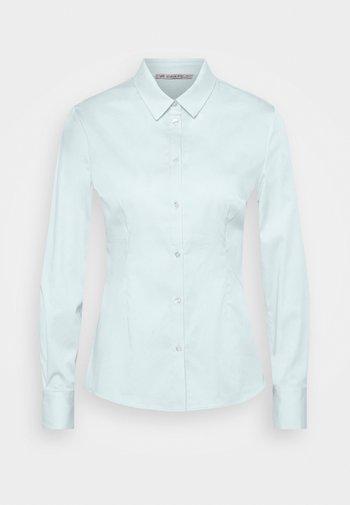 Slim fit business blouse - Button-down blouse - blue