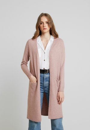 VMBRILLIANT LONG OPEN - Cardigan - woodrose/melange