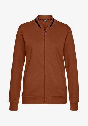 Zip-up sweatshirt - caramel