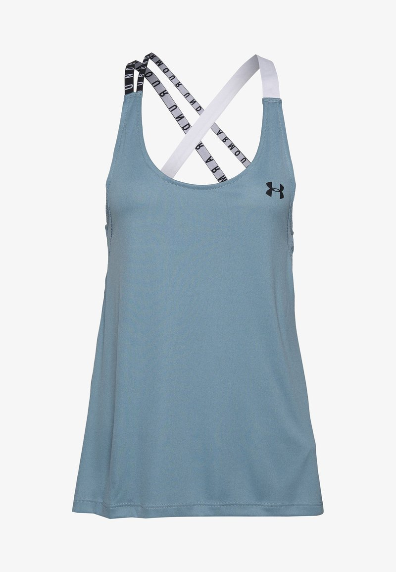 Under Armour - UA HG ARMOUR WM DOUBLE STRAP TANK - Treningsskjorter - hushed turquoise/halo gray/black