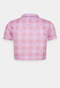 NEW girl ORDER - HEART GINGHAM - Print T-shirt - purple - 1