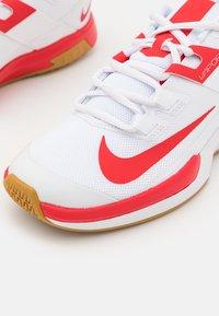 Nike Performance - COURT VAPOR LITE - Multicourt tennis shoes - white/university red/wheat - 5