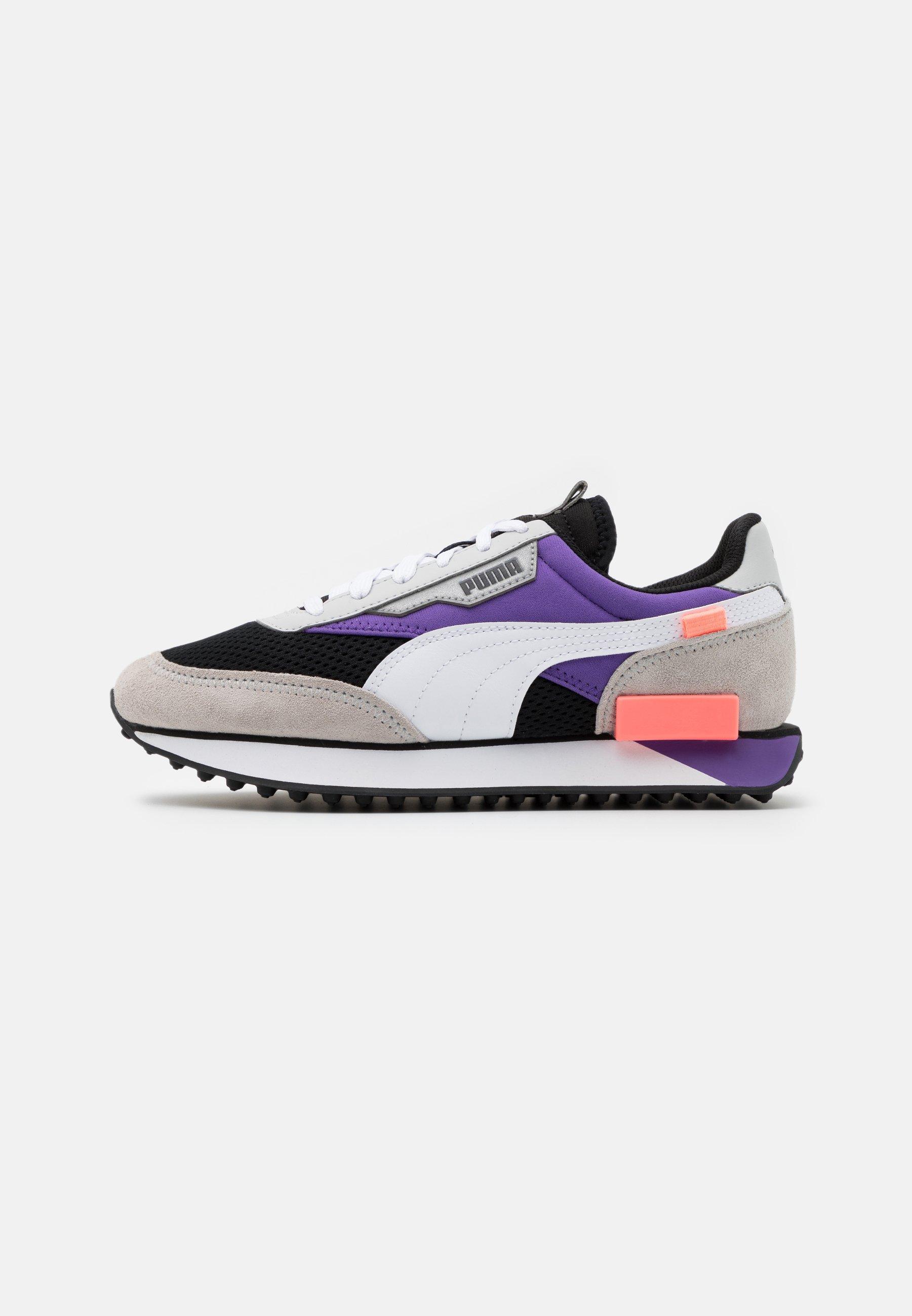 Puma FUTURE RIDER GALAXY - Trainers - black/ultra violet/white ...