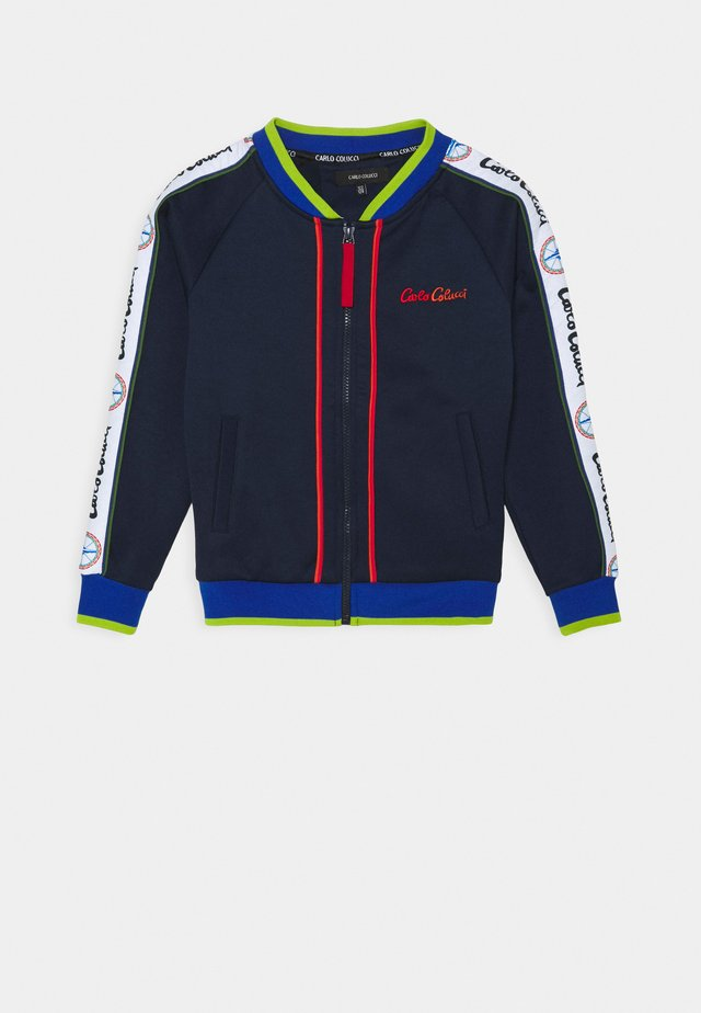 UNISEX - veste en sweat zippée - navy/red/royal