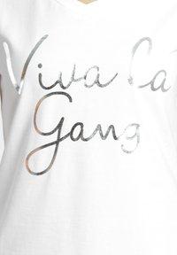 Gang - BASE VIVA - Print T-shirt - white - 2