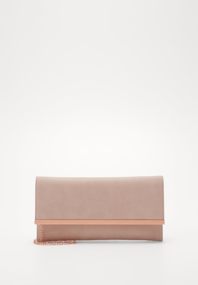 FLAT METAL TRIM CLUTCH - Clutch - nude