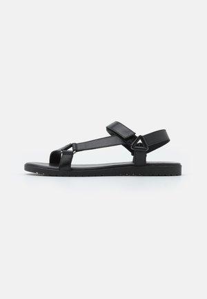 LEATHER - Sandals - black