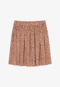 Marc O'Polo DENIM - ALLOVER-PRINT - Pleated skirt - multi/cinnamon brown - 5