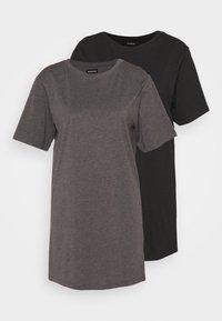 Even&Odd Petite - 2 PACK - Žerzejové šaty - black/dark grey - 0