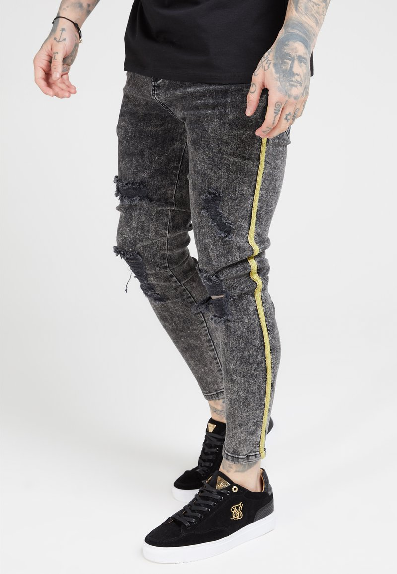 SIKSILK - DISTRESSED TAPED - Jeans Skinny Fit - faded grey