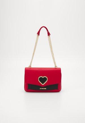 COLORBLOCK HEART SHOULDER BAG - Skuldertasker - fantasy color