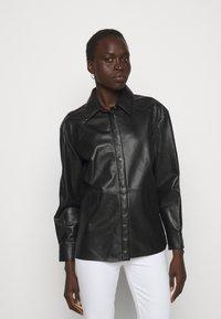 LIU JO - GIACCA CAMICIA - Leather jacket - nero - 0