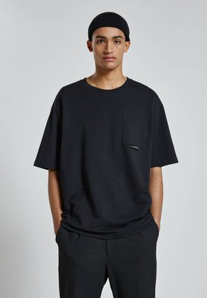 Jednoduché triko - mottled black